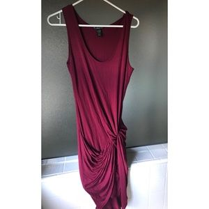 Finesse: Deep Red Dress